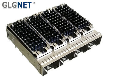 4 Ports SFP Port Connector Copper Alloy Cage Material EMI Shield For 10G Ethernet